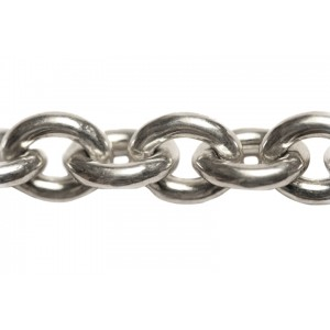 Sterling Silver 925 Chunky Oval Trace Chain, 15 x 13 mm, 3.4 thickness