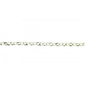 Sterling Silver 925 Diamond cut Rolo Belcher Chain, 3.5 mm