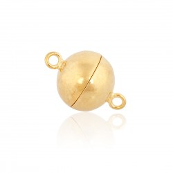 Sterling Silver 925 Gold Plated Magnetic Ball Clasp 12mm