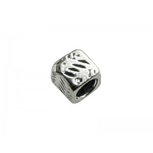 Sterling Silver 925 Square Bead 4.5mm, 3.7 mm hole