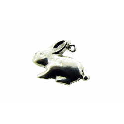 Sterling Silver 925 Rabbit Pendant