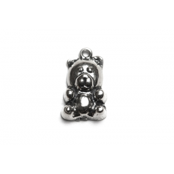Sterling Silver 925 Teddy Bear Charm