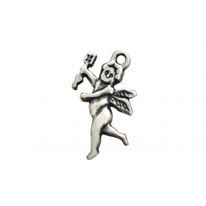 Sterling Silver 925 Cherub with Bow and Arrow Pendant