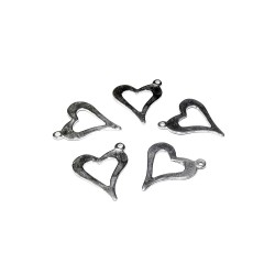 Sterling Silver 925 Heart Pendant 12mm x 13mm