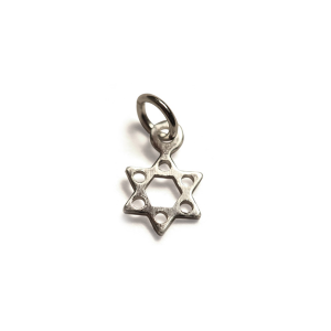 Sterling Silver 925 Star of David Charm, small