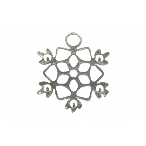 Sterling Silver 925 Snowflake Charm