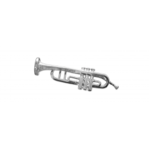 Sterling Silver 925 Trumpet Pendant