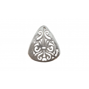 Sterling Silver 925 Pierced Out Plectrum Pendant