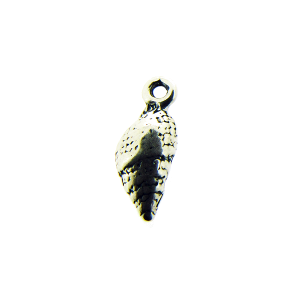 Sterling Silver 925 Cantharus Seashell Charm with ring 15.2mm