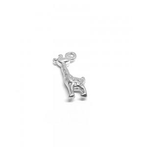 Sterling Silver 925 tiny Giraffe Charm 5mm x 12mm