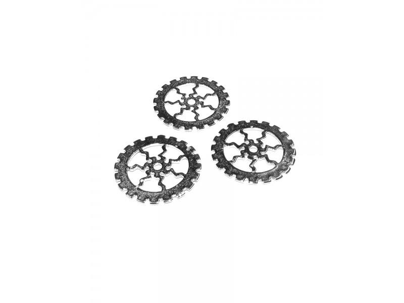 Sterling Silver 925 Cogwheel Charm 16mm
