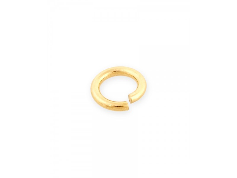 9K Yellow Gold Light Weight Open Jump Ring external D 3mm wire 0.6mm