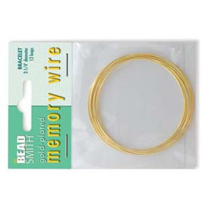 Gold Plated Memory Wire Bracelet Size 12 loops D 2.25''