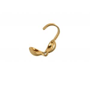 Gold Filled Oyster Crimps 3.5mm, pack of 10