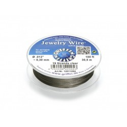 Jewellery Wire 19 strand 0.012'' x 100ft (0.30mm) Clear