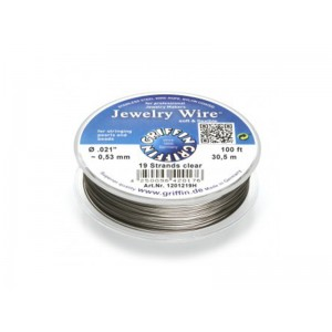 Jewellery Wire 19 strand 0.021'' x 100ft (0.53mm) Clear