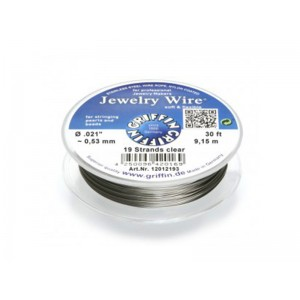 Jewellery Wire 19 strand 0.021'' x 30ft (0.53mm) Clear