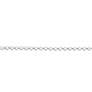 Sterling Silver 925 Rolo Belcher Chain, 2.3 mm