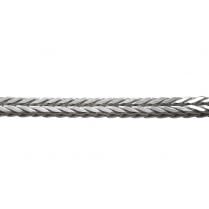 Sterling Silver 925 Foxtail Chain, 3 mm