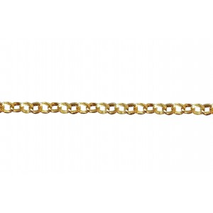 Gold Plated Brass Rolo Belcher Chain 2.4mm