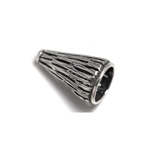 Sterling Silver 925 large Cone Bead 11.88mm x 19.41mm