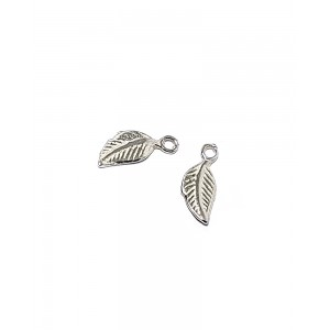 Sterling Silver 925 Leaf Charm  Silver Flowers & Plants