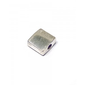 Sterling Silver 925 Square Bead 5.3mm, hole 0.8mm