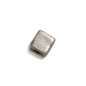 Sterling Silver 925 Square Bead 4.3mm