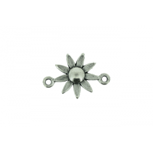 Sterling Silver 925 Daisy Connector Charm  Silver Flowers & Plants
