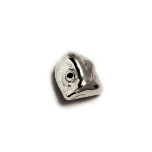 Sterling Silver 925 Sharp Nugget Bead 4.7mm x 8mm