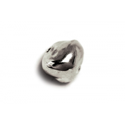 Sterling Silver 925 large Nugget Bead 12.12mm x 14.51mm