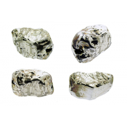 Sterling Silver 925 Nugget Bead 12.7mm x 20.4mm