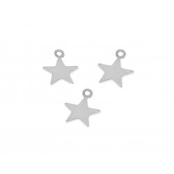 Sterling Silver 925 Star Charm 7.0mm