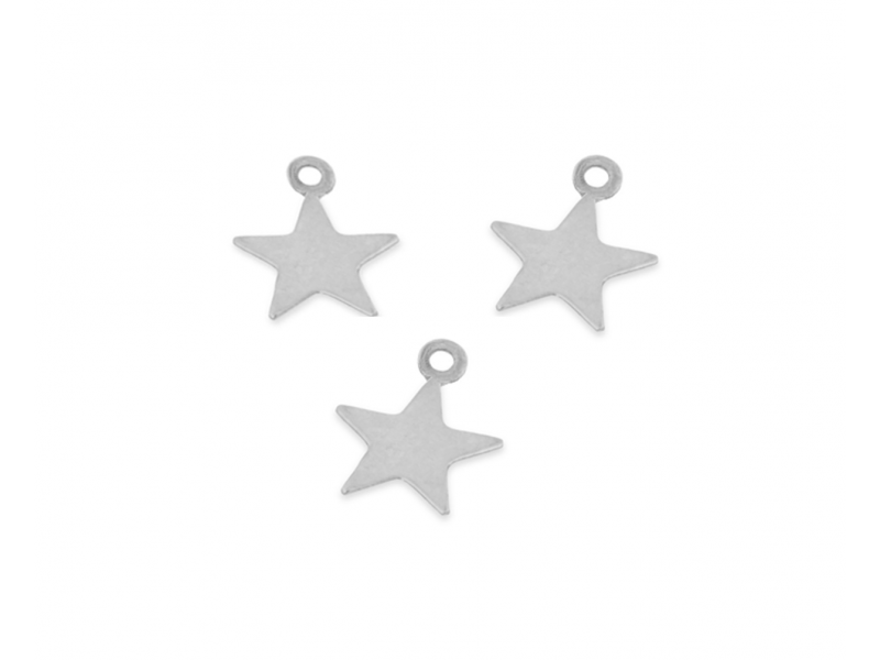 Sterling Silver 925 Star tiny Charm 4.5mm