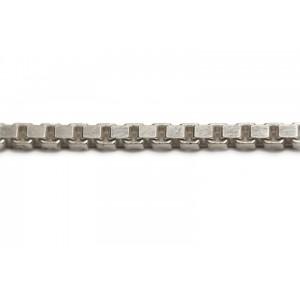 Sterling Silver 925 Chunky Diamond Cut Box Chain, 2.7 mm
