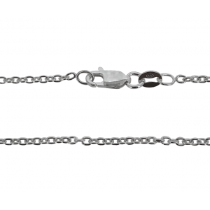 Ready Made Sterling Silver 925 Trace Chain, 16'', 1.6 mm
