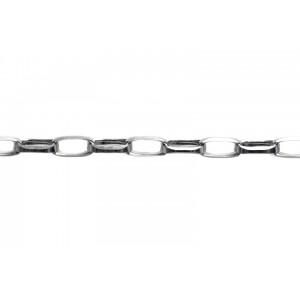 Sterling Silver 925 Diamond cut Oval Belcher Chain, 7.7 x 3.7 mm Belcher
