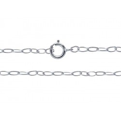 "S925 READY MADE LIGHT TRACE CHAIN 20"" 2mm x 1.3mm"