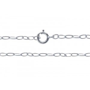 "S925 READY MADE LIGHT TRACE CHAIN 16"" 2mm x 1.3mm"