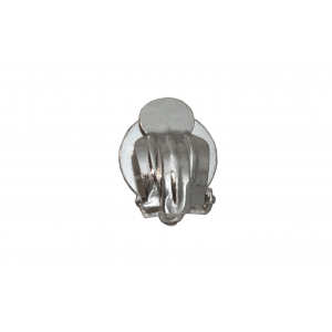 Sterling Silver 925 Ear Clip On Fittings with Round Base  Silver Ear Fittings