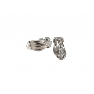 Sterling Silver 925 Complete Ear Clip with Loop