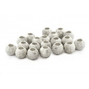 PACK OF 2 gr, S925 LAZER CUT BEAD 3mm, 1.2mm HOLE