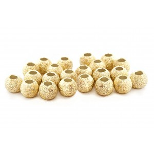 PACK OF 2 gr, GOLD PLATED LAZER CUT BEAD 3mm, 1.5mm HOLE