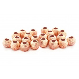 PACK OF 2 gr, RED GOLD PLATED, LAZER CUT BEAD 4mm, 1.8mm HOLE