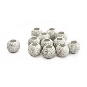 STERLING SILVER 925 LAZER CUT BEAD 8mm, 3.0mm HOLE