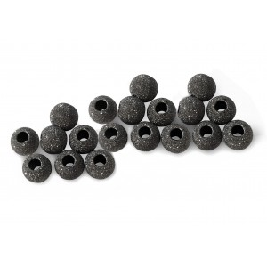 PACK OF, BLACK RHODIUM PLATED, LAZER CUT BEAD 3mm, 1.5mm HOLE