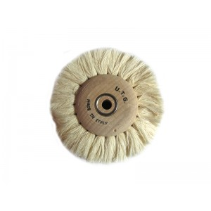 Cotton Brush, Wood Hub, 100mm