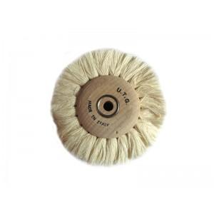 Cotton Brush, Wood Hub, 100mm