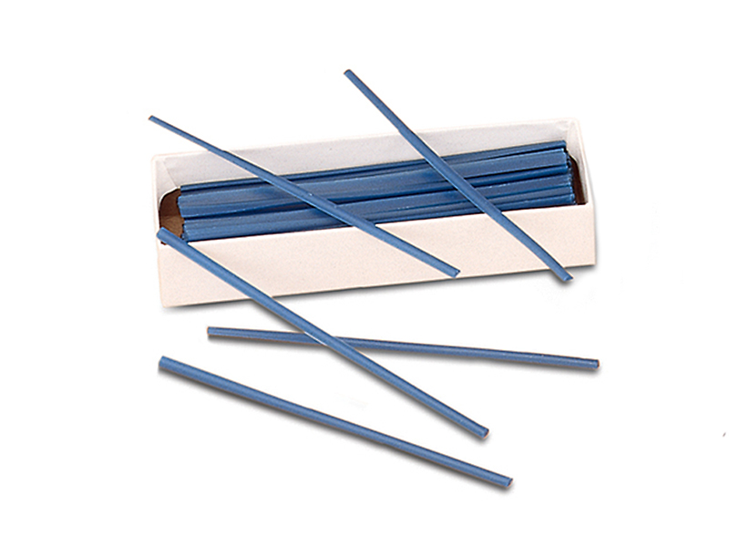 Blue Wax Flat Wire 1.2mm x 3mm
