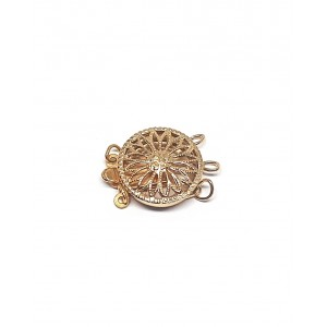 Gold Filled 5% 14K Gold Round Filigree Box Clasp 2 strands